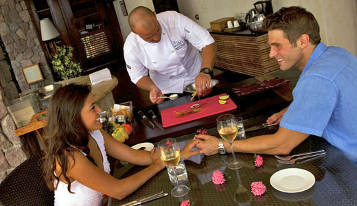 Chefs on Wheels private dining at Jade Mountain